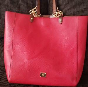 Red ralph lauren tote handbag